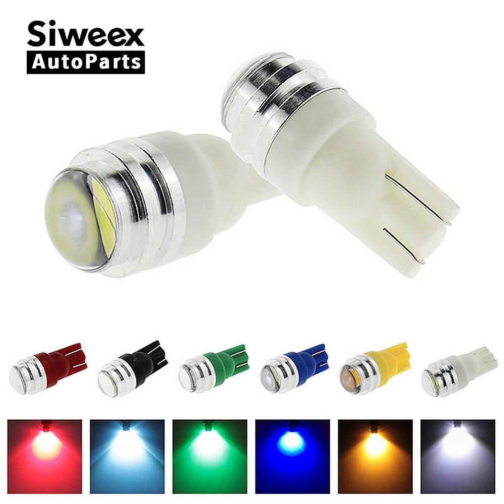 1 шт T10 W5W из светодиодов супер яркий с объективом проектора 6 цветов свет лампы номерного знака свет лампы постоянного тока 12В
