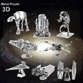Тысячелетний Сокол Earth 3D Металл Модель Комплект Для Детей Собрать DIY IQ Мозга Головоломки X-Wing НА Истребитель развивающие Игрушки