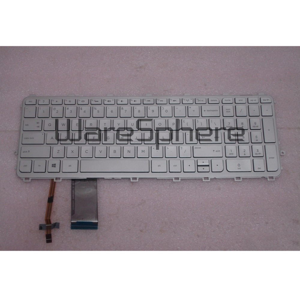 Brand new original US backlit Keyboard for HP Envy 15 15T 15Q 15q Notebook Seires V140626A M6-N760743-001 97-00076 Silver new notebook laptop keyboard for dell studio 15 1535 1536 1537 0kr770 backlit french layout