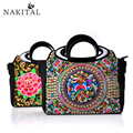Bags Handbags Women 2017 National Boho Embroidery Canvas Shoulder Messenger Bag Ladies Handbag Casual Tote Bolsas Feminina