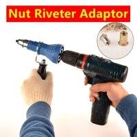 MXITA M3 M4 M5 M6 M8 M10 Electric Drill Rivet Nut Tool Adapter Cordless Adapter Rivet