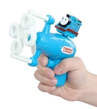 Thomas Fully-Automatic Shining Bubble Gun Toys Kids Gift Bubble Gun Soap Bubble Blower Water Gun