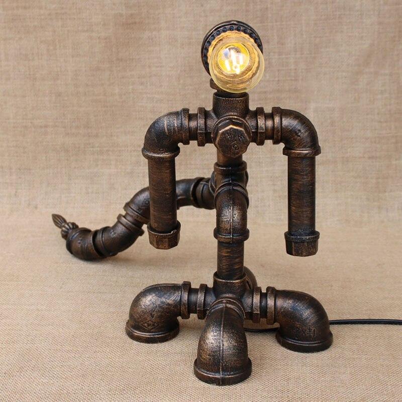 Kunst Ambiente luals loft wasserleitungen retro tischle roboter deco mesa