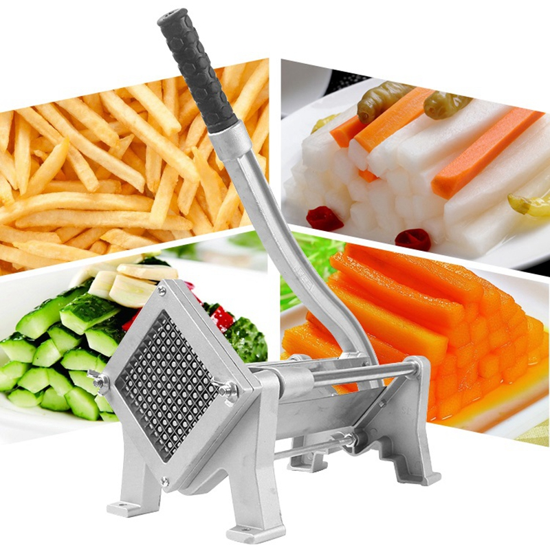 High Efficiency Commercial French Fry Cutters Carrot Potato Chip Chopper Stainless Steel Fruit Vegetable Onion Cabbage Shredder