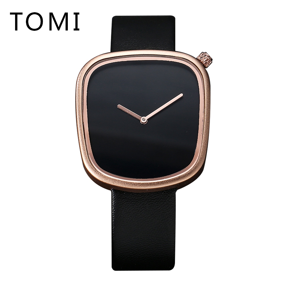 Tomi Brand 2017 High Quality Men Fashion Quartz Watches Simple Leather Strap Waterproof Business Male Sport Dress Clock T003 xinge top brand luxury leather strap military watches male sport clock business 2017 quartz men fashion wrist watches xg1080