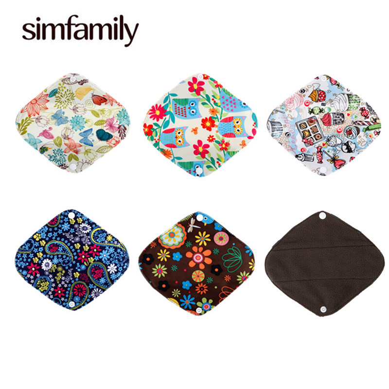 [simfamily] 10Pcs Bamboo Charcoal Panty Super Absorption liner Reusable Cloth Inner Sanitary Menstrual Pads Healthy MAMA pads