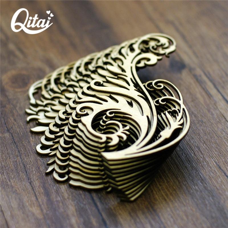 QITAI 12 Stuks / partij Houten Decoratie Plakboek Ambachten Verpakt - Huisdecoratie - Foto 3