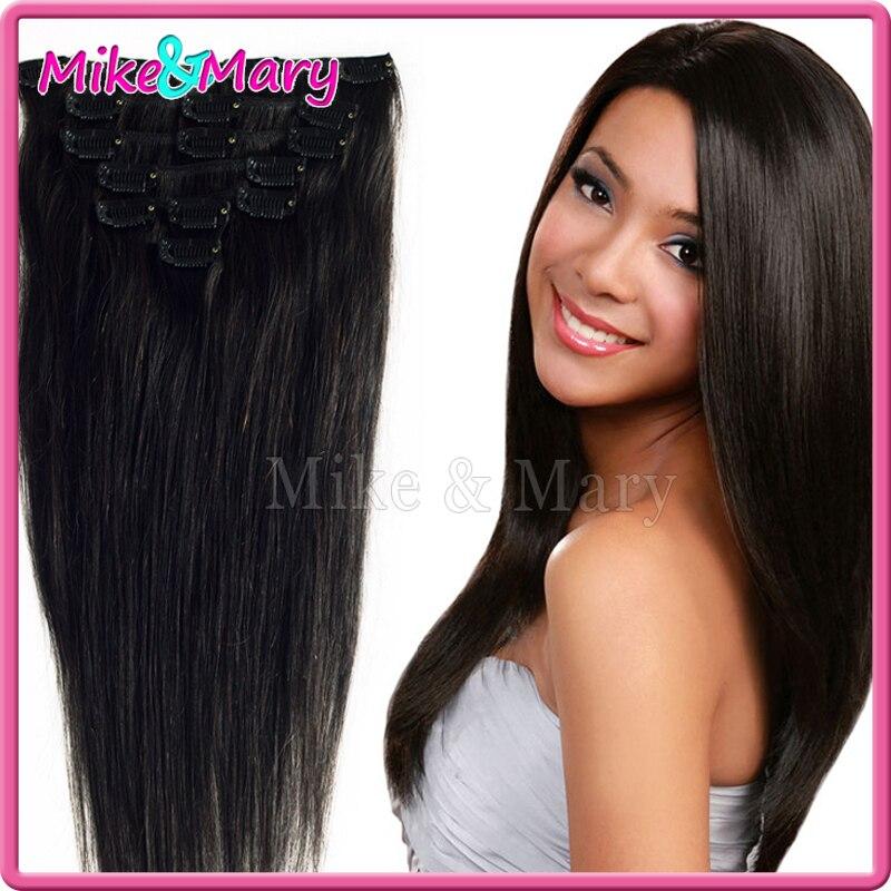 Virgin Chinese Hair 3 Bundle 70g 7pcs 1b Natural Color Malaysian