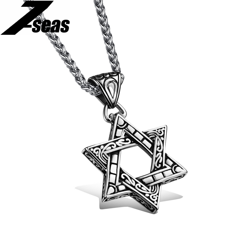 Vintage hexagram pendants necklaces for men women top for Best mens jewelry sites