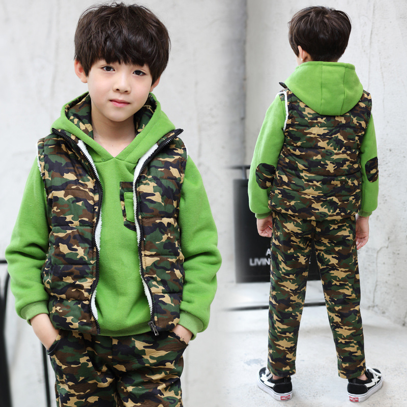 The Boy With Cashmere Sweater Camouflage Three Piece Big Boy 2017 New Winter In A Thick Suit On Behalf Of Children original road n90 dual engine fhd panels tao n90fhd battery 7 4v 12000mah three lines on behalf of 3879138