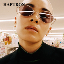 HAPTRON Retro oval Sunglasses Women Men Brand Designer Luxury Vintage