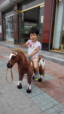 simulation animal riding horse plush toy 82x62cm brown horse whinny horse doll childrens birthday gift,Christmas gift w8466