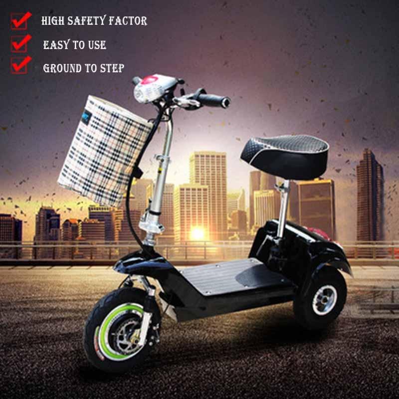 Électrique Scooter Batterie Au Lithium Trois Roues Usine En Gros Lumière Et Pratique Moteur Citycoco pour Hommes Femmes Enfants