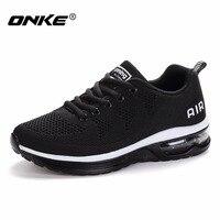 Onke Tênis Profissional para Homens Outono Mulheres Almofada Tênis de corrida dos homens Do Esporte Ao Ar Livre Sapatos Masculinos Femininos Sapato Andando