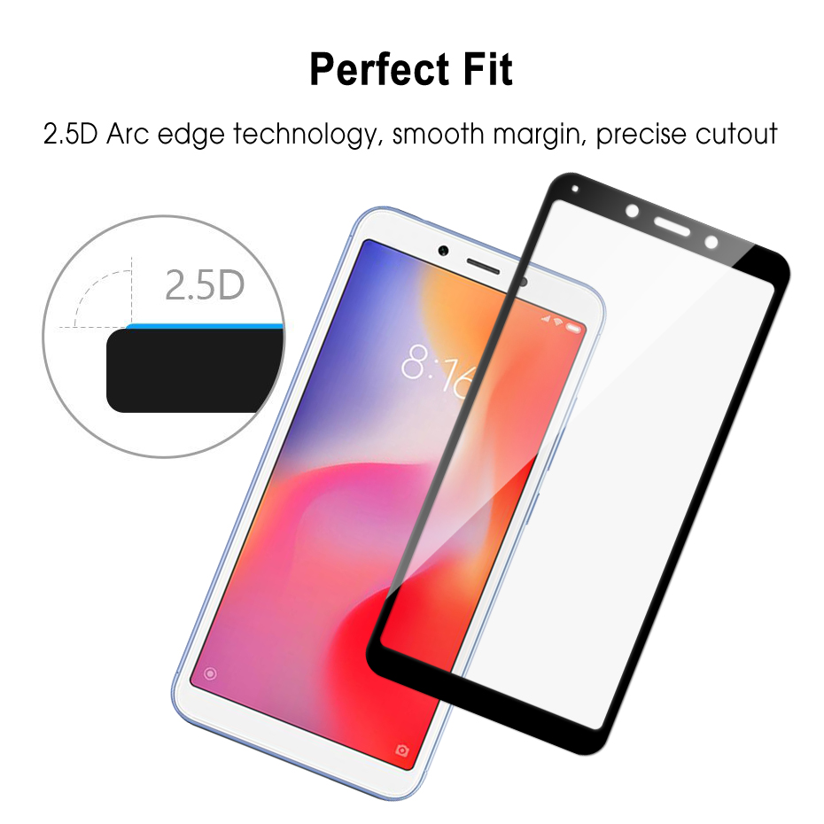 Image 5 - Redmi 6A Protective glass 2.5D 9H HD High quality Full Screen protector for Xiaomi Redmi 6A Tempered glass-in Phone Screen Protectors from Cellphones & Telecommunications