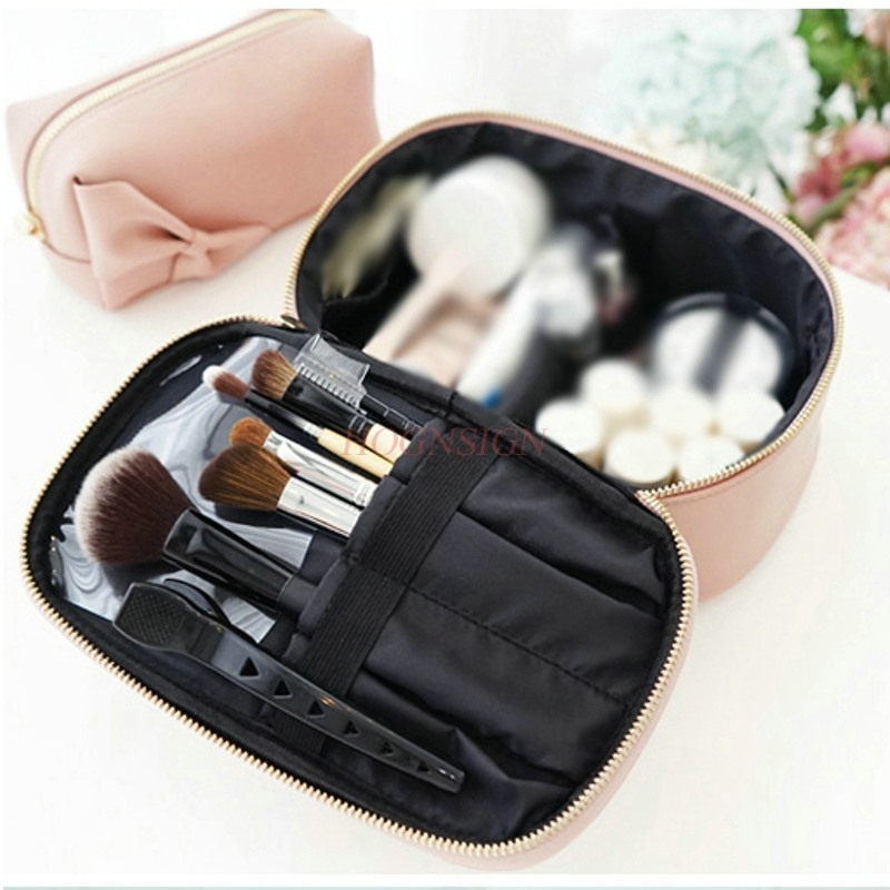 Travel portable multi function large capacity cute simple portable cosmetics girl heart cosmetic in Eye Shadow Applicator from Beauty Health