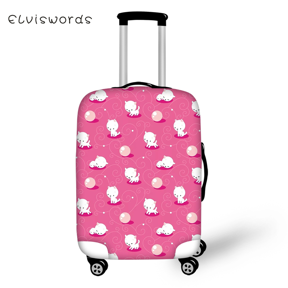 ELVISWORDS Suitcase Protective Covers Cartoon Animal Pattern Elastic Dust-proof Cover Kawaii Design Travel Luggage Accessories