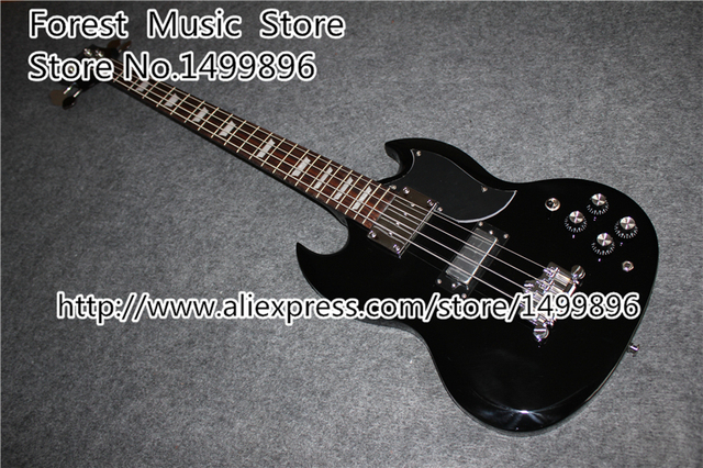 Cheap Hot Selling Black Epiph. SG Electric Guitar 4 String Bass Guitarra Rosewood Fingerboard Lefty Available