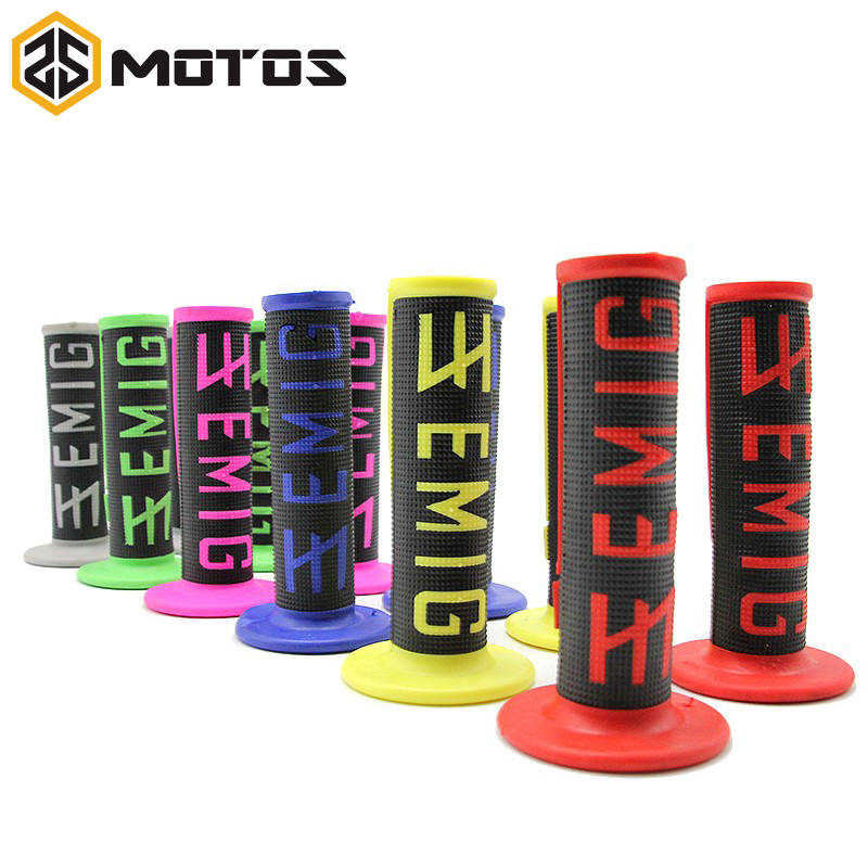 ZS MOTOS 6 couleurs Moto poignées Motocross grip guidon DIRT PIT BIKE MOTOCROSS 7/8 GUIDON EN CAOUTCHOUC Double Densité MX Poignées