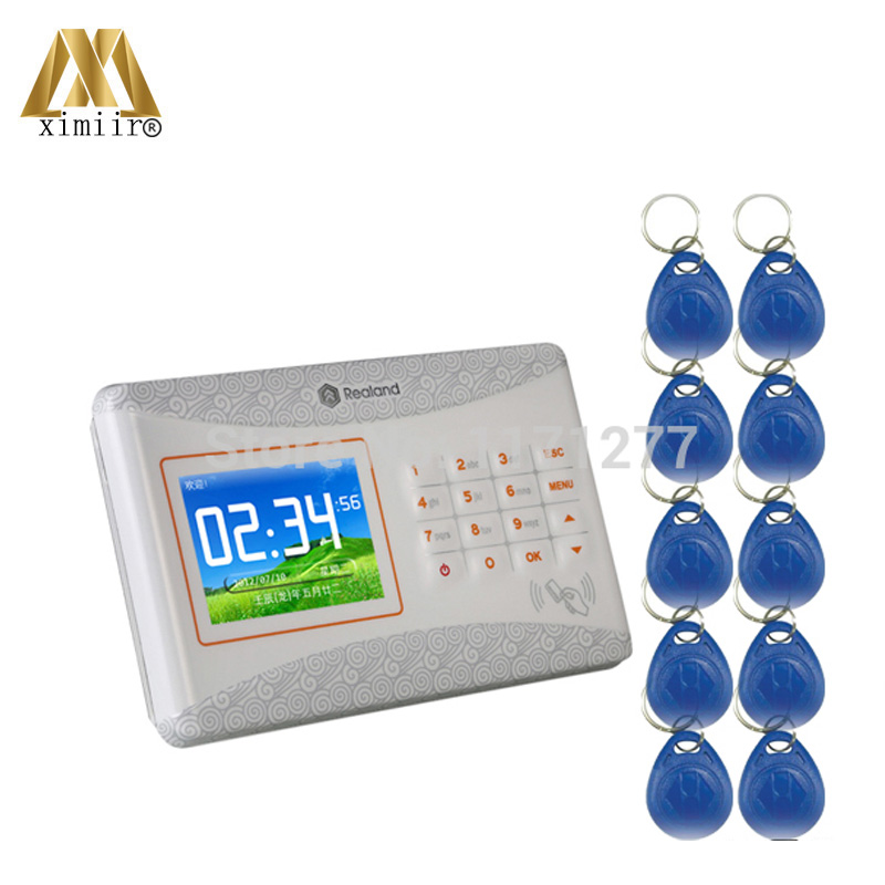 TCP/IP 125KHz RFID Card Access Control With 10pcs RFID Keyfob Card Access Control SystemTCP/IP 125KHz RFID Card Access Control With 10pcs RFID Keyfob Card Access Control System
