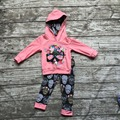 kids Fall clothes kids long sleeve outfits baby girls hoodie clothing girls skull outfits floral clothing children boutique sets