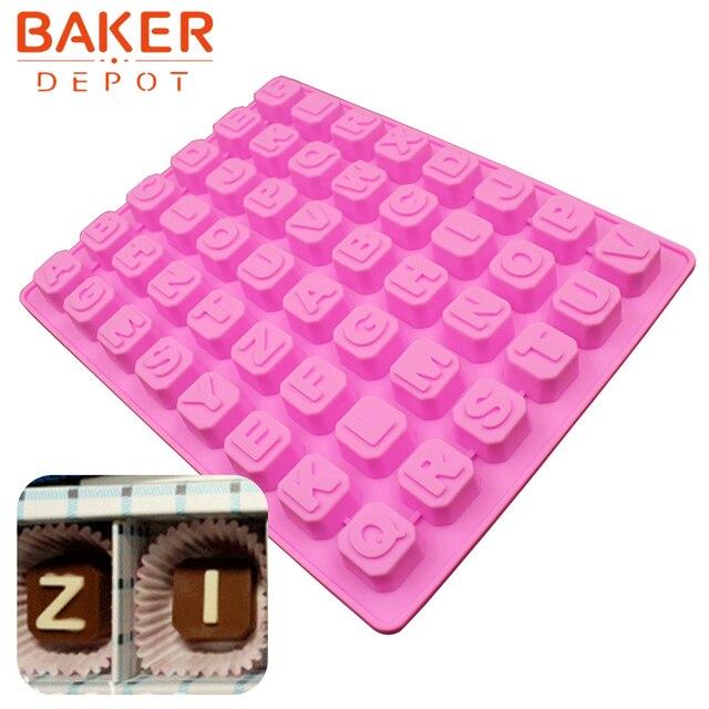 Silicone del cioccolato della muffa Lettere e Numeri di strumenti decorazione di una torta della caramella gommosa del fondente della muffa del ghiaccio della gelatina della muffa di cottura bakeware strumento