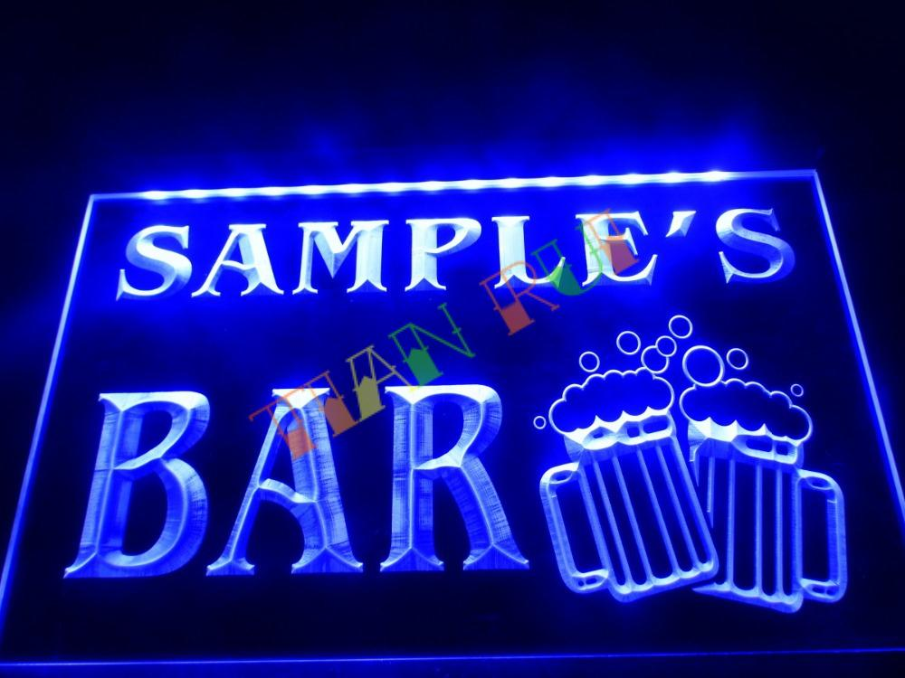 dz028 name personalized custom home bar beer mugs cheers neon sign hang sign home decor shop. Black Bedroom Furniture Sets. Home Design Ideas