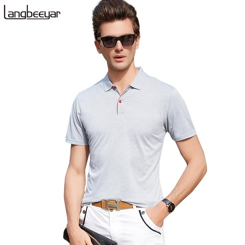 2019 New Fashion Men Summer   Polo   Shirt Brands Top Grade Slim Fit Short Sleeve   Polo   Shirts Men Quality Casual Poloshirt Men