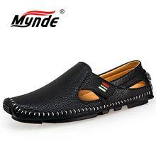MYNDE جديد موضة الأخفاف ل حذاء رجالي الصيف المشي حذاء كاجوال بفتحات تهوية الرجال هوك و حلقة القيادة قوارب حذاء رجالي الشقق