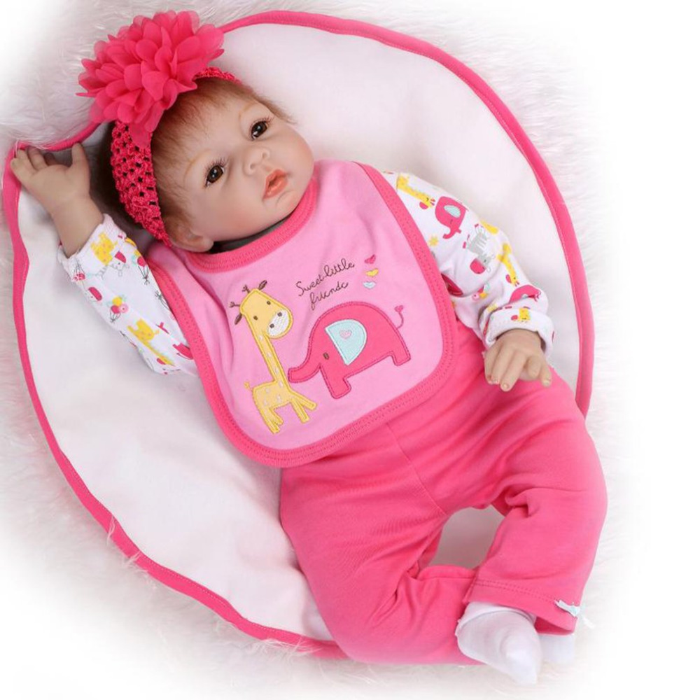 Hot! Reborn Baby Doll Toy Cute High Grade Soft Silicone Lifelike Cloth Body Newborn Baby Dolls Parenting Toys Gift for Kids Girl цена