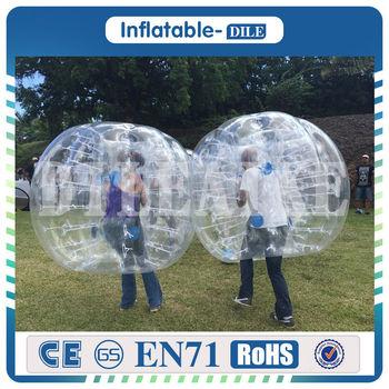 Darmowe Logo! darmowa dostawa! Gorąca sprzedaż 0 8mm PVC 1 7m trwała nadmuchiwana zderzak kula kąpielowa do piłki nożnej bańkowa piłka nożna tanie i dobre opinie DILEAIKE0064 6 lat Plac zabaw na świeżym powietrzu Inflatable bubble ball