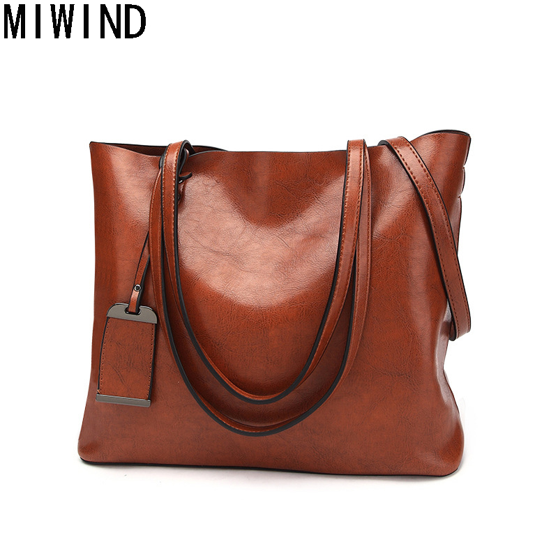 MIWIND High Quality Leather Women Bags Famous Brand Luxury Handbags Ladies Large Soft Leather Bag TJBB1198 high quality authentic famous polo golf double clothing bag men travel golf shoes bag custom handbag large capacity45 26 34 cm