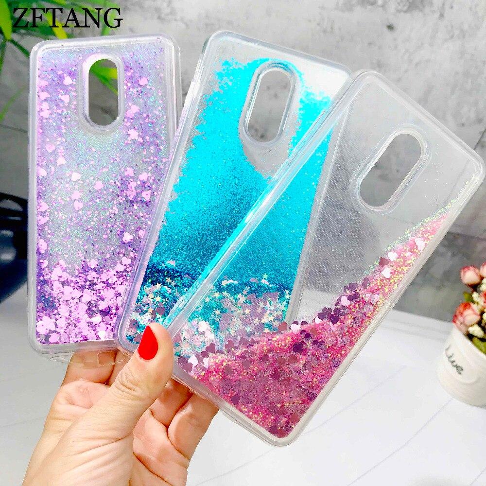 ZFTANG Glitter Liquid Case For Xiaomi Redmi 5 Plus Case Silicone Phone Cases For Xiaomi Redmi Note 4 4X 6 5 Plus Pro Case Cover