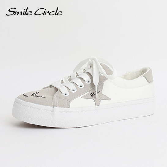 Smile Circle Smile Circle 2017 New Women shoes Spring/Autumn New style shoes women fashion Graffiti canvas shoes