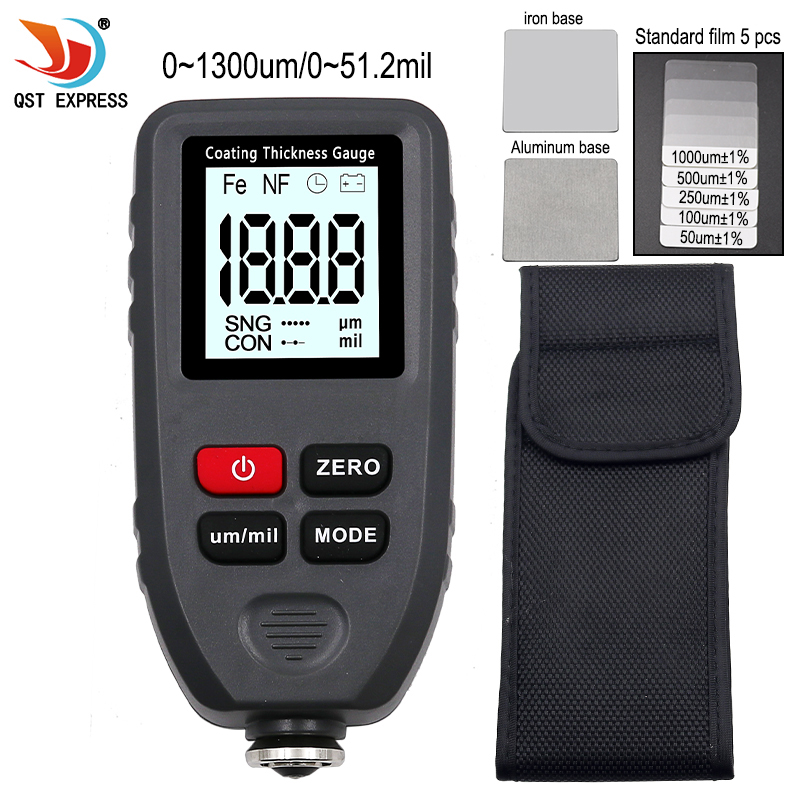 TC 100 Thickness gauge paint coating Digital Car Paint Thickness Meter 0 1300um Width Measuring tester