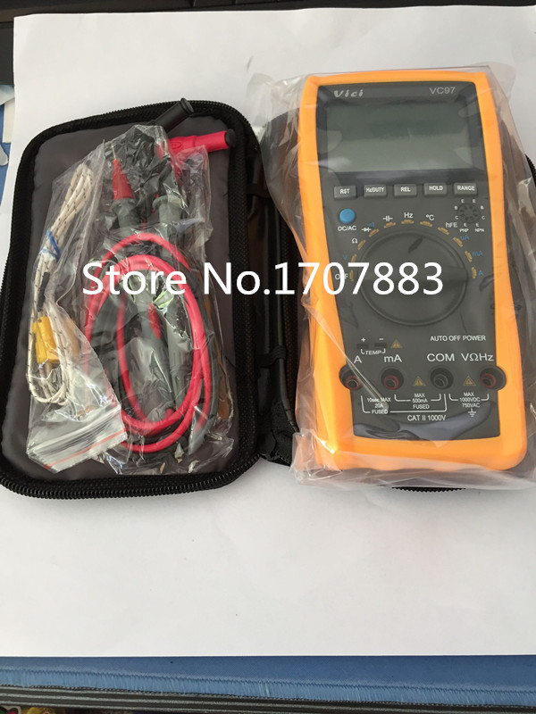 VC97 Auto Range DMM AC DC Voltmeter Capacitance Resistance Digital Multimeter Tester RCF Diode Buzz ms8226 handheld rs232 auto range lcd digital multimeter dmm capacitance frequency temperature tester meters