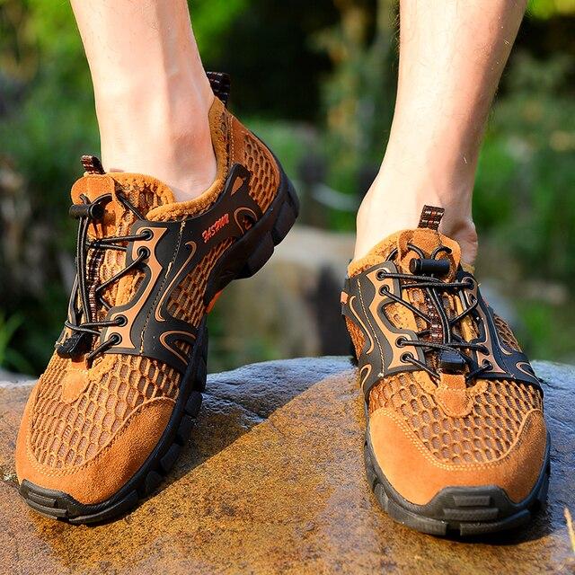 Men Hiking Shoes Waterproof Shoes Men Mountain Climbing Trekking Shoes