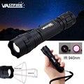 7 Вт IR 940 нм масштабируемый светодиодный охотничий фонарь ночного видения инфракрасного излучения фонарик + крепление для прицела + аккумуля...