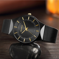 Readeel Mens Watches Top Brand Luxury Fashion Casual Watch Men Mesh Stainless Steel Quartz Watch Relogio