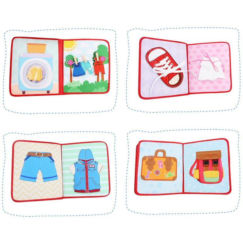Nouveau Montessori éducation précoce bébé tissu livre bébé larme pas mal Puzzle lecture jouet Parent-enfant interactif apprentissage tissu livre - 4
