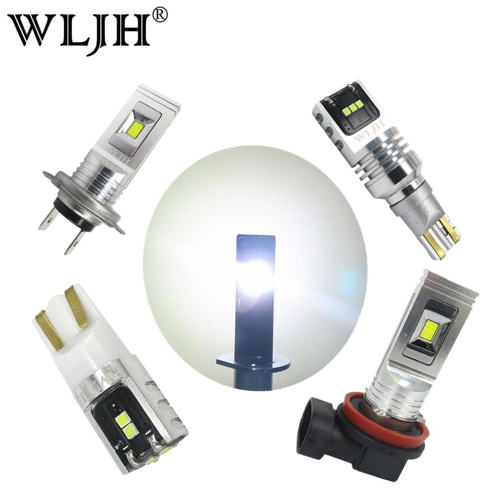 2x branco 1500lm wljh 80w car light led t10 w5w 5w t15 921 h7 h8 h11