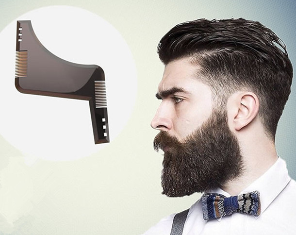 goatee trimming template - beard mustache styling template grooming kit goatee liner