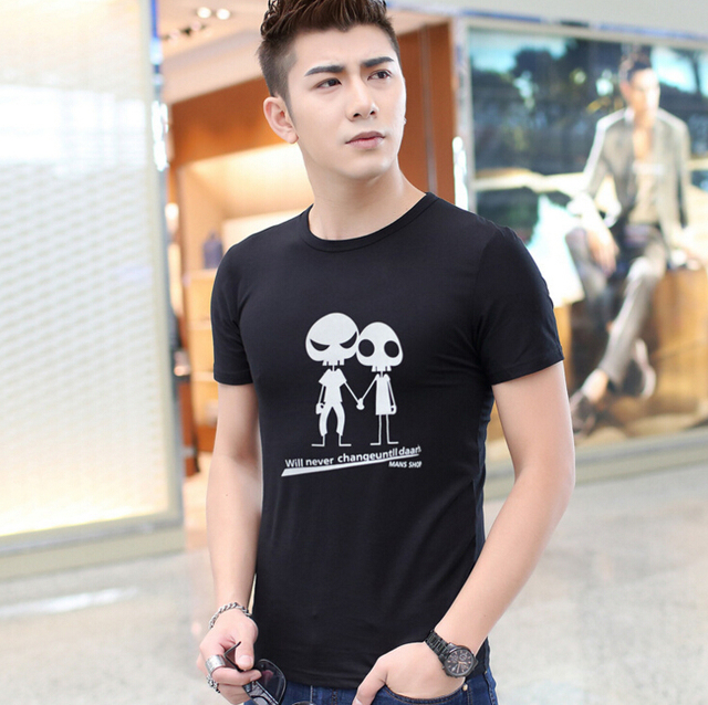 Crossfit T Shirts Mens Brand T-Shirt Fitness Top Tees Skull Swag Cotton O Neck Clothing Short Sleeve