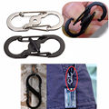 S Ring Buckle Lock Carabiner locking Hook Clip Hiking Climbing Camping Keychain