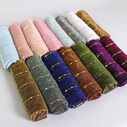 Красивый! Волшебная нить блесток хиджабы Для женщин-мусульманок Shimmer шаль Хиджабы морщины Исламская свадьба сетчатый палантин Крышка