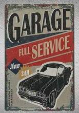 1pc Mechanic garage Car repair 24 hours full service Tin Plate Sign wall man cave Decoration Man Art Poster metal vintage