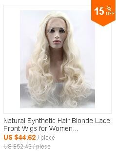 Natural Synthetic Hair Blonde Lace Front Wigs
