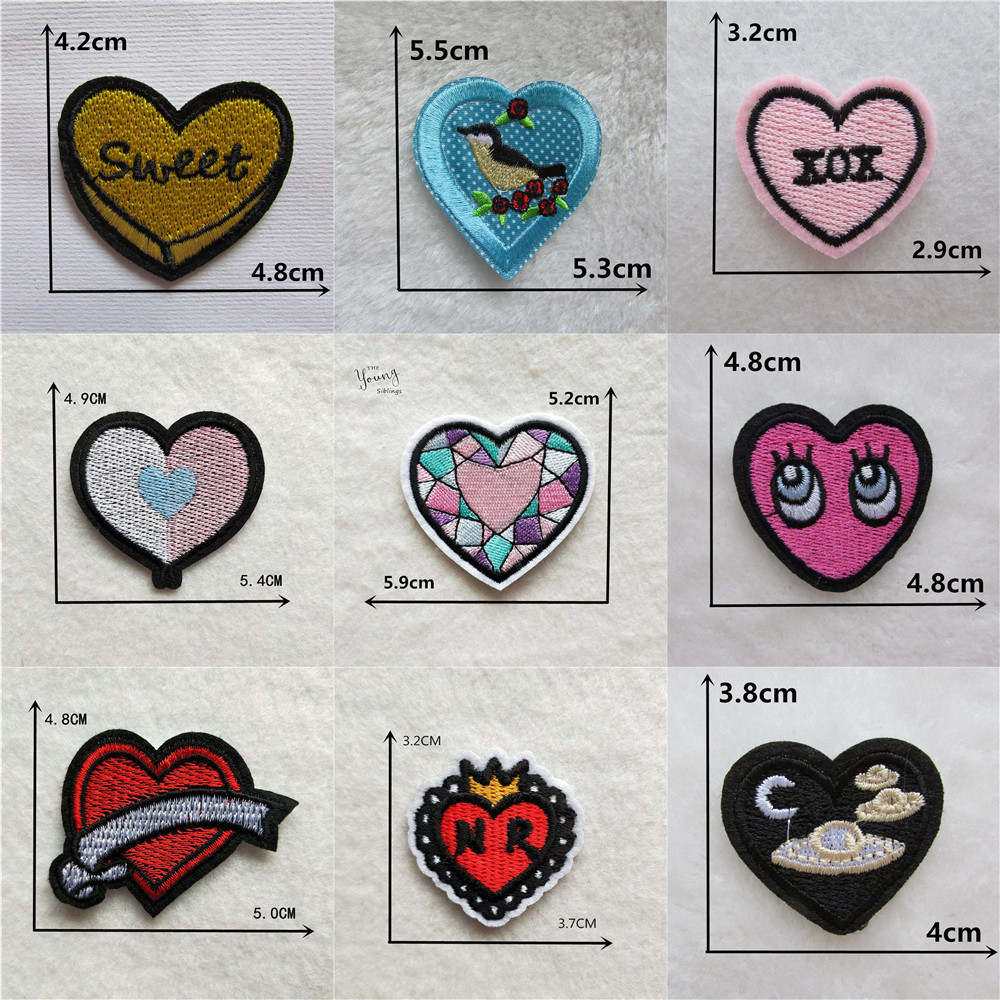 Iron On Sew On Patch Thank You Hand Made With Love Labels Clothes Craft Heart
