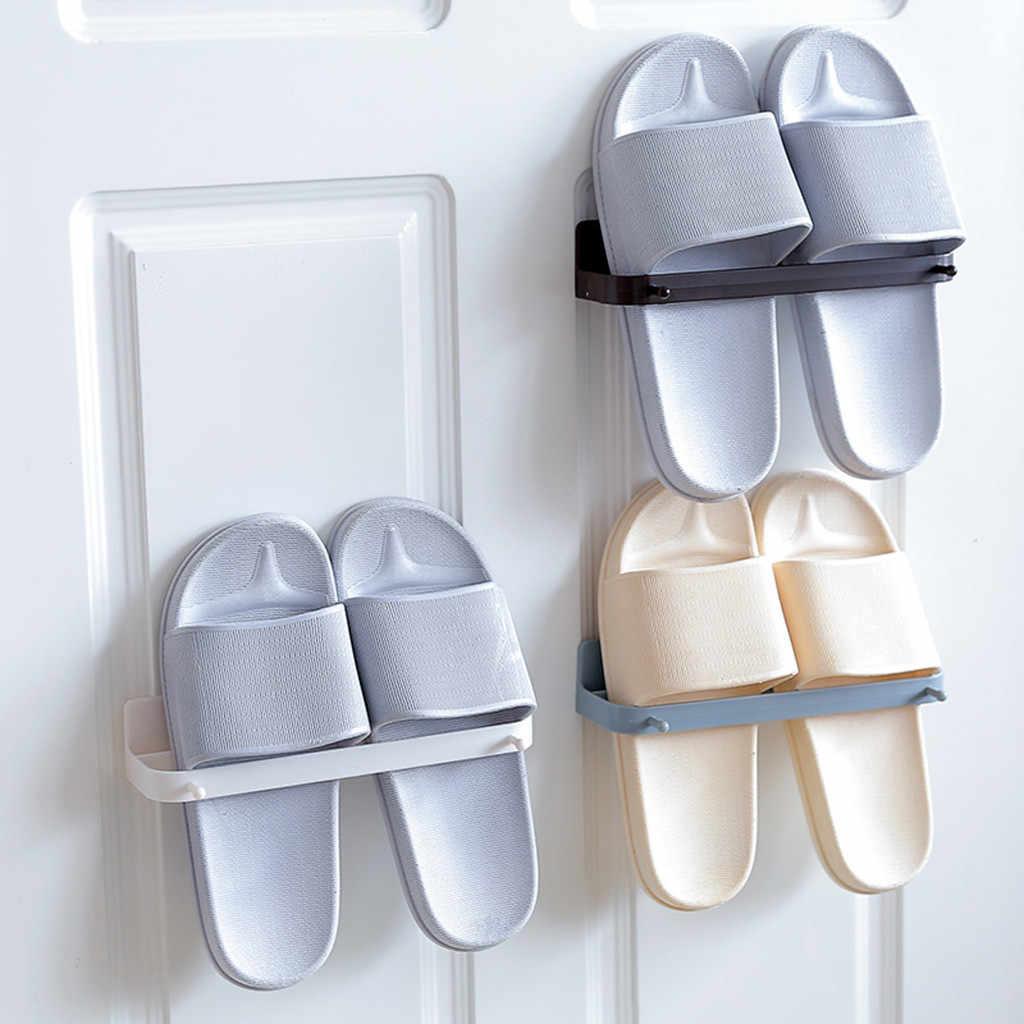 NAIYUE держатель для хранения домашние пластиковые настенные вешалки Тапочки Органайзер для хранения на полке ABS бытовые Висячие Holder19MAY31