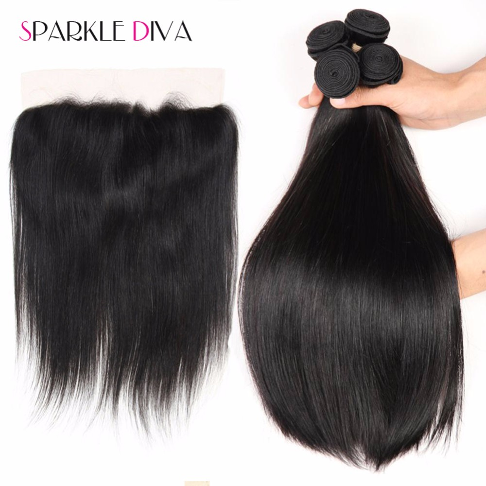 13x4 Ear To Ear Full Lace Frontal Closure With Bundles,Unprocessed Virgin Human Hair Extension Malaysian Straight With Closure (6)